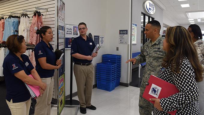 AAFES senior enlisted advisor visits Dyess